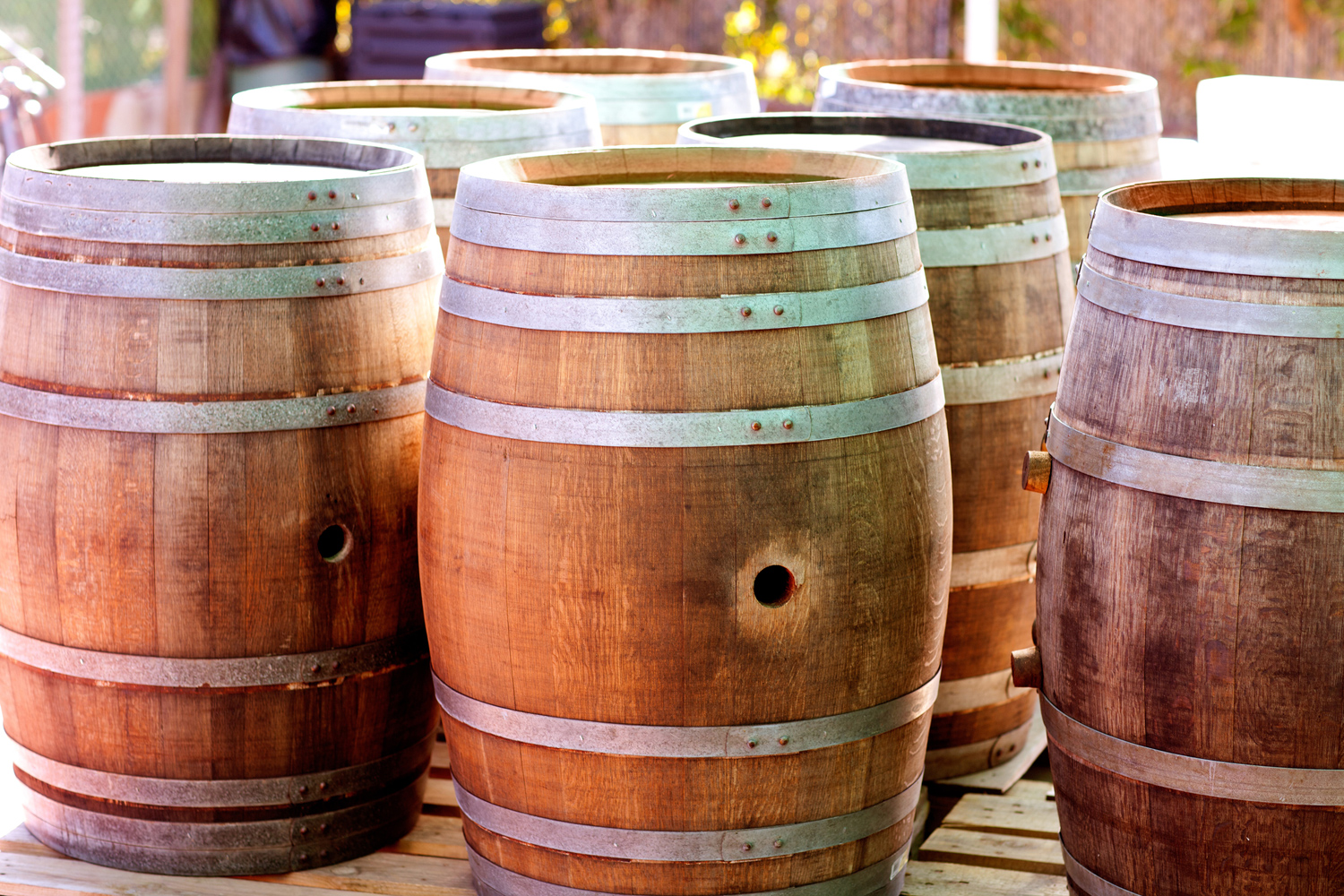 Special prices on wine barrels.