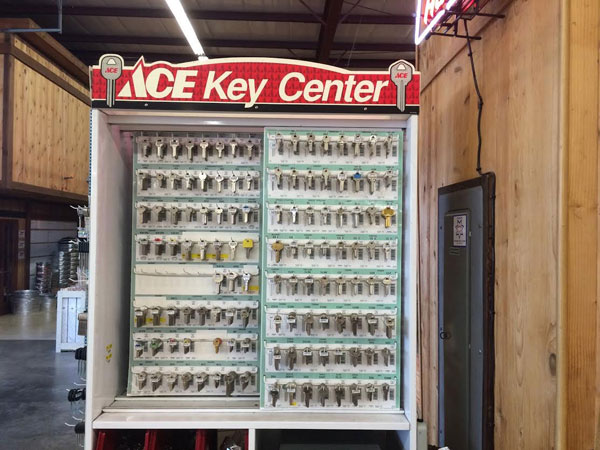 Key cutting and duplication at O'Connor Lumber & Ace Hardware in Vallejo, CA.