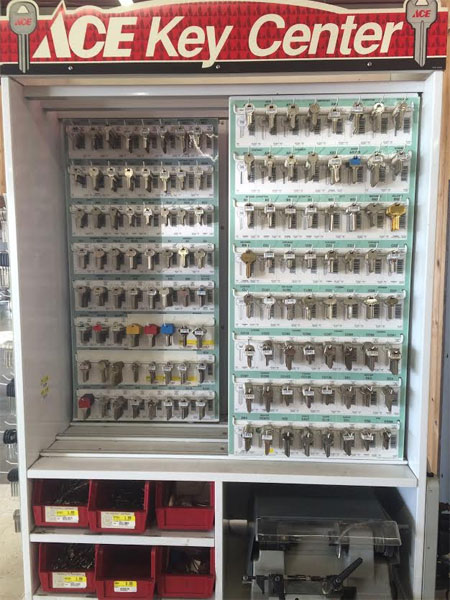 Key cutting and duplication at O'Connor Lumber & Ace Hardware