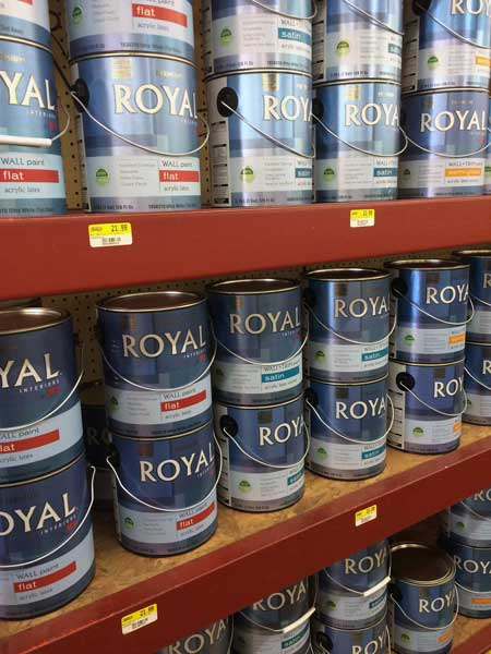 Paint supplies at O'Connor Lumber & Ace Hardware